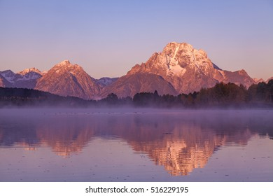 Teton Fall Reflection at Sunrise