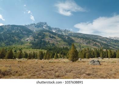 Teton Mountain Range Foothills