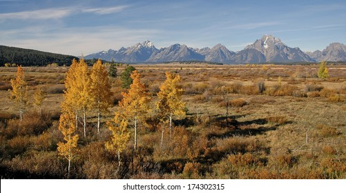 Teton Range in Autumn, Grand Teton National Park, Rocky Mountains, Wyoming