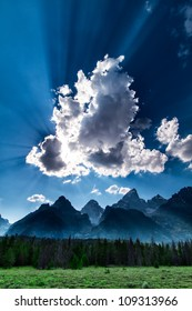 Teton Storm Clouds Clearing