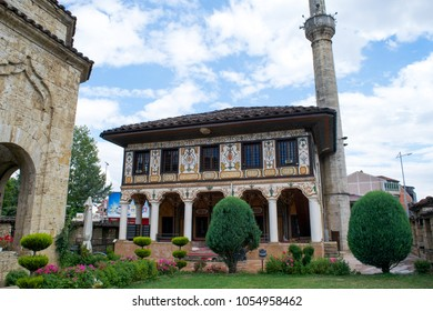 TETOVO, REP. OF MACEDONIA - CIRCA JULY 2016: Gardens and buildings in the Painted Mosque of Tetovo