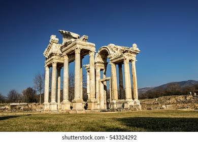 Tetrapylon in Afrodisias, Aydin, Turkey