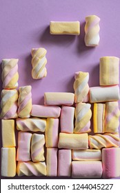 Tetris game with different marshmallow sweets