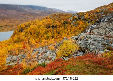 Teusajaure on the Kungsleden Hiking trail in Sweden - Lapland