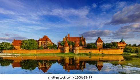 Teutonic Castle in Malbork (Marienburg) in Pomerania (Poland)