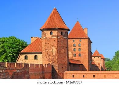 Teutonic castle in Malbork, Poland
