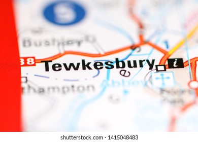 Tewkesbury. United Kingdom on a geography map