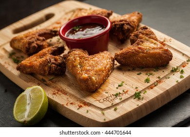 tex mex chicken wings as served in a restaurant