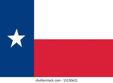 Texan flag waving in the wind