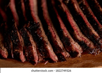 Texas brisket. Grilled meat, barbecue