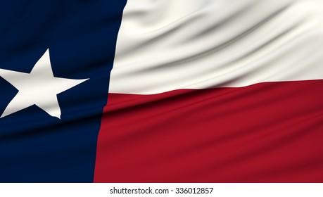 Texas Flag. 3d illustration