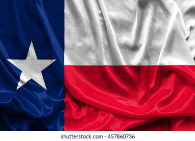 Texas Flag - Crumpled fabric background, wallpapers, close up