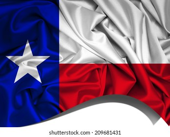 Texas flag and fabric background