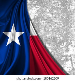 texas flag fabric and wall background