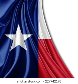 Texas flag fabric and white background