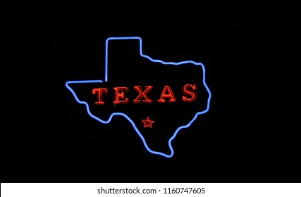 Texas Neon Sign Photo Composite