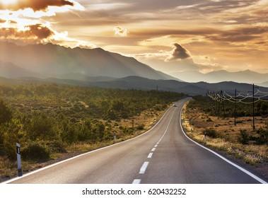 Straße Texas