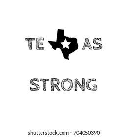 Texas Strong Typography Jpeg Design
