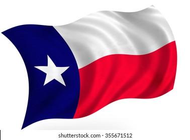 Texas (USA)  flag, isolated