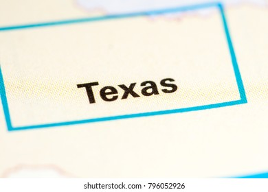 Texas. Texas. USA on a map