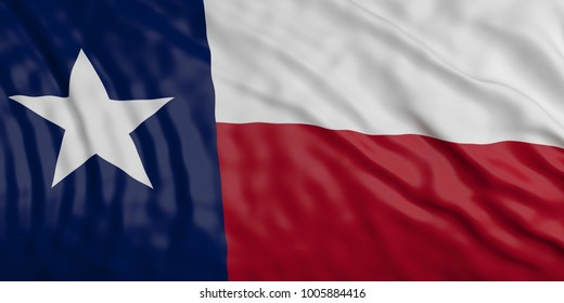 Texas USA waving flag background. 3d illustration