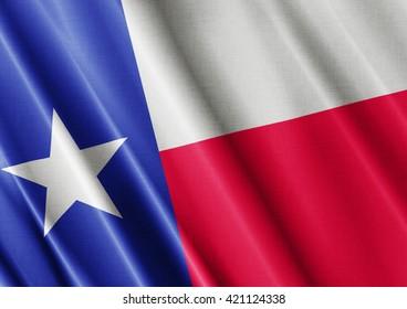 Texas waving flag close