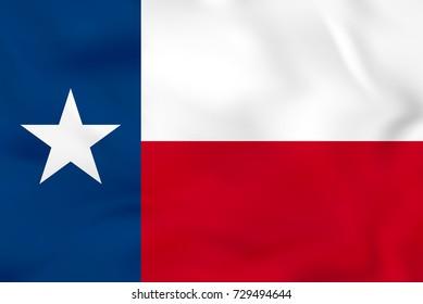 Texas waving flag. Texas state flag background texture. Raster copy.