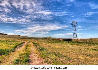 Texas Windmill on the Panhandle Plains.