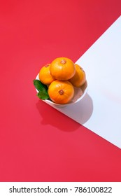 Text appear in image: Prosperity. Chinese new year mandarin oranges still life.
