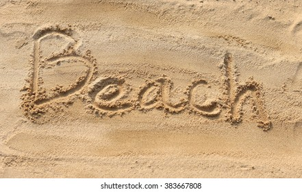 text Beach on the sand pattern