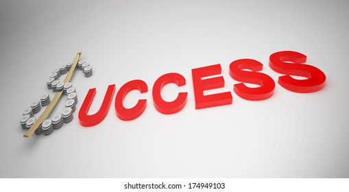 Text for business in success