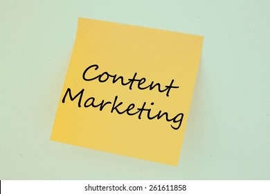 Text content marketing on the short note texture background