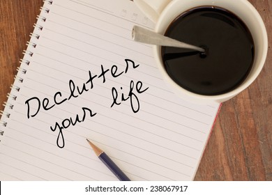 Text declutter  your life on word
