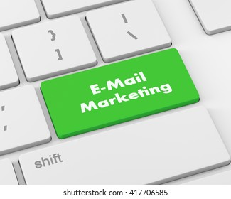 Text e-mail marketing button, 3d rendering