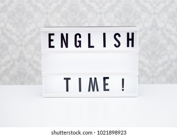 text english time