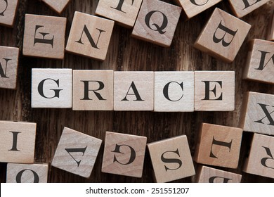 text of GRACE on cubes