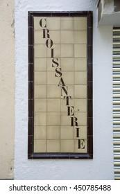 text on ceramic tile