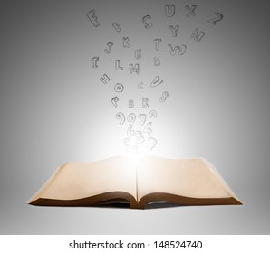 text out of book in air