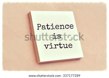 short paragraph on patience