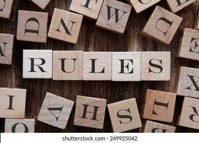 text of RULES on cubes