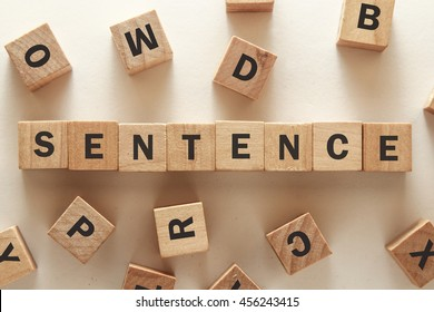 text of SENTENCE on cubes