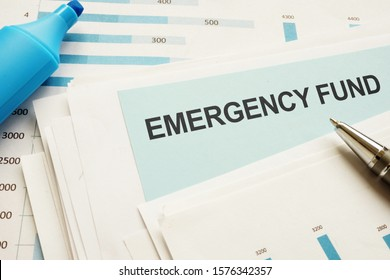 Text sign showing hand written words Emergency Fund