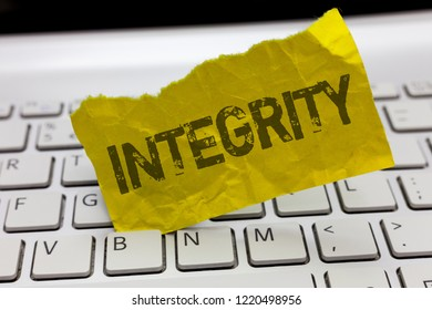 Text sign showing Integrity. Conceptual photo quality of being honest and having strong moral principles