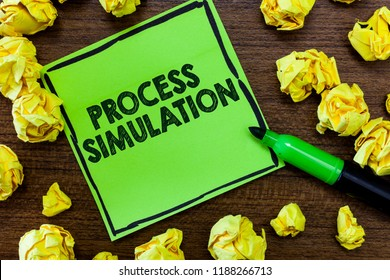 Text sign showing Process Simulation. Conceptual photo Technical Representation Fabricated Study of a system