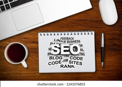 Text sign showing Seo and Adwords. Conceptual photo Pay per click Digital marketing Google Adsense