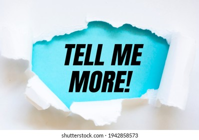text sign showing Tell Me More. - Shutterstock ID 1942858573