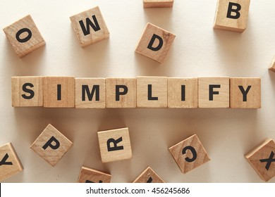 text of SIMPLIFY on cubes