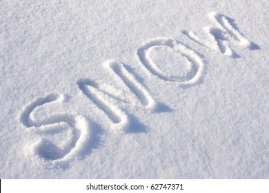 text SNOW  in winter