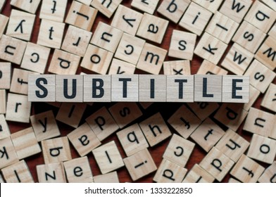 text of SUBTITLE on cubes