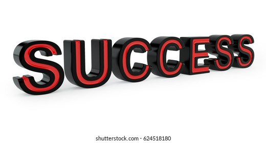 Text success isolated on white background